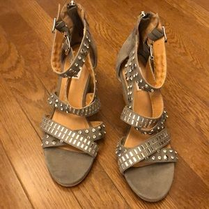 Shoes - Studded Wedges